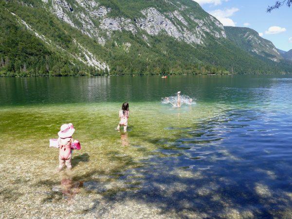 baignades lac de bohinj