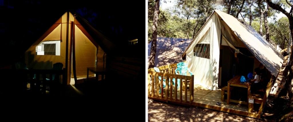 cabane camping de la presqu'île de Giens