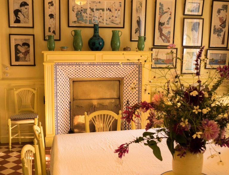salle à manger de la maison de Claude Monet à Giverny