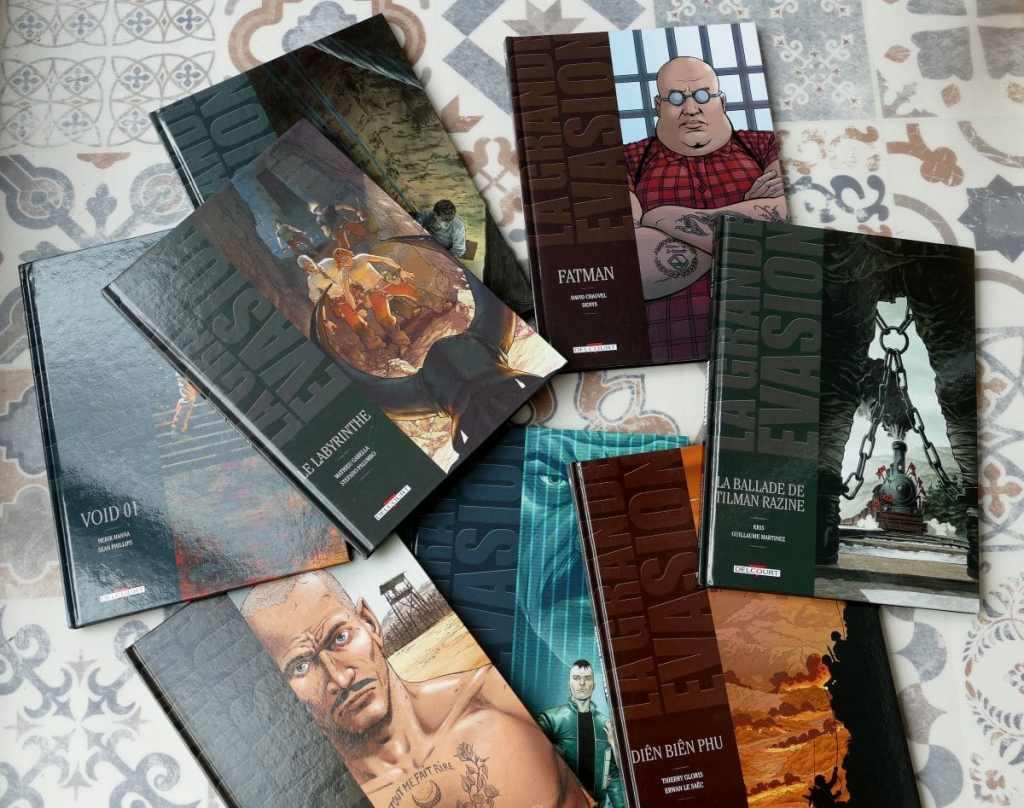 Collection la grande évasion des éditions Delcourt