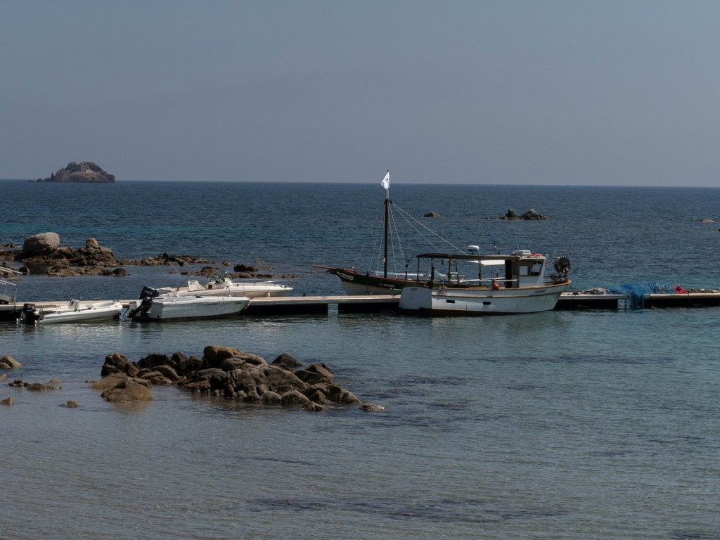 barque dans le Golf de Pinarellu