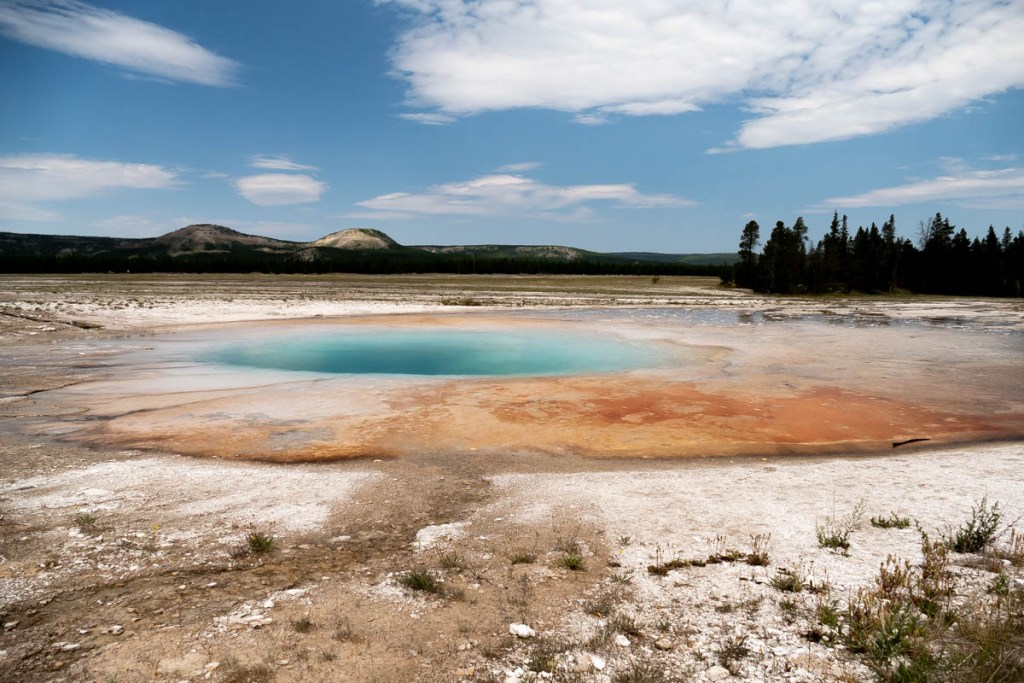 sur le site du Grand Prismatic
