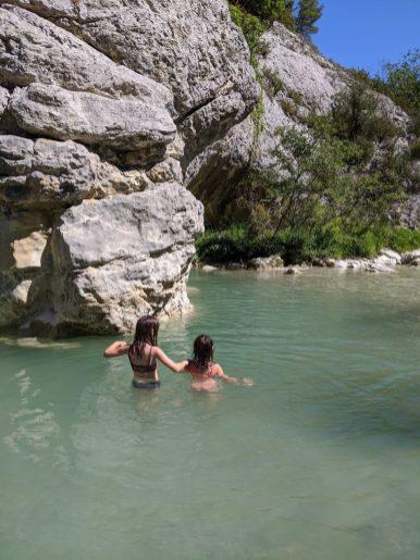baigande dans l'Ouvèze à Buis-les-Baronnies