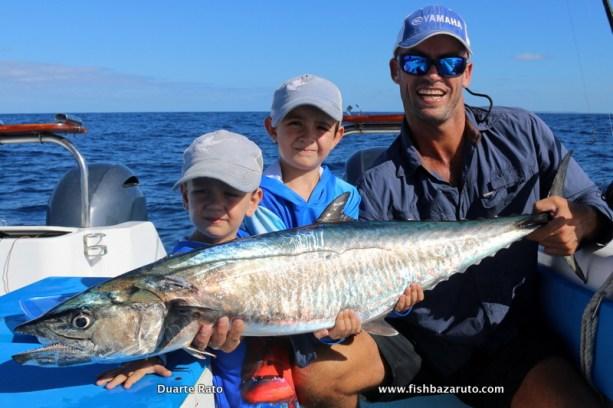 Morgan with Duarte Jnr. and Dario and a nice live bait caught cuda…