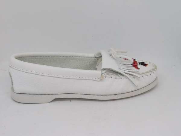 womens mocs thunderbird boat white 174