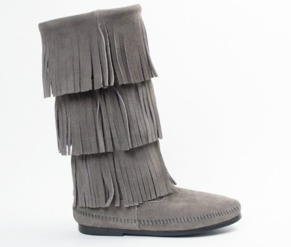 womens boots 3 layer calf grey 1631t
