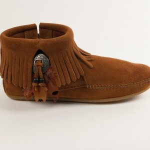 womens boots concho feather brown 522