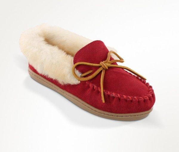 womens slippers alpine sheepskin red 3376