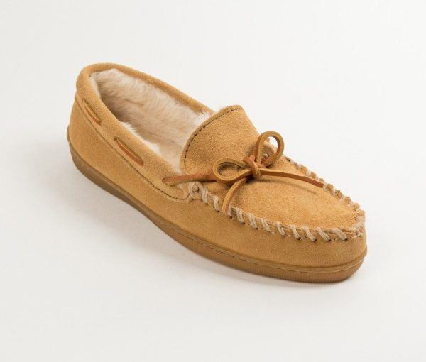 womens slippers pile hardsole tan 3501