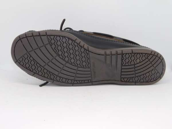 mens mocs double bottom hardsole dark brown 768