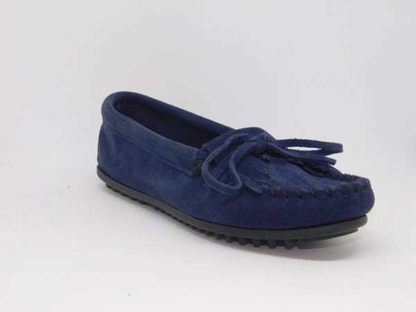 womens mocs kilty navy 409T