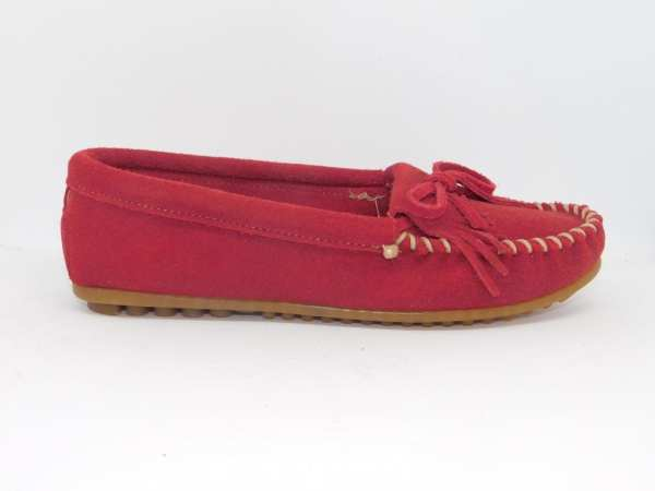 womens mocs kilty red 406