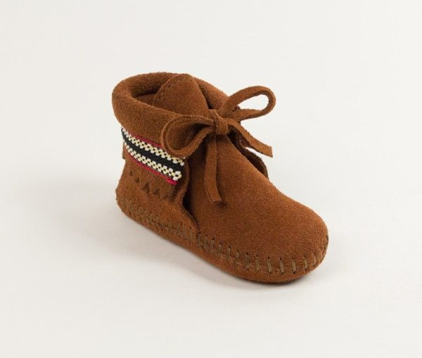 infants boots braid brown 1102