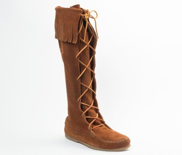 mens boots laced knee hi brown 1922