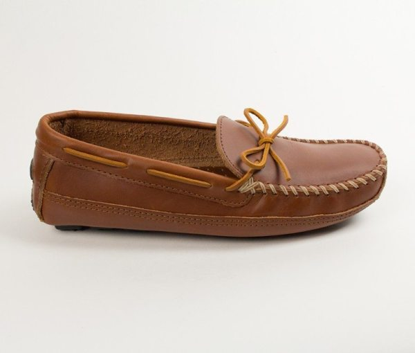 mens mocs cowhide driving chestnut 946