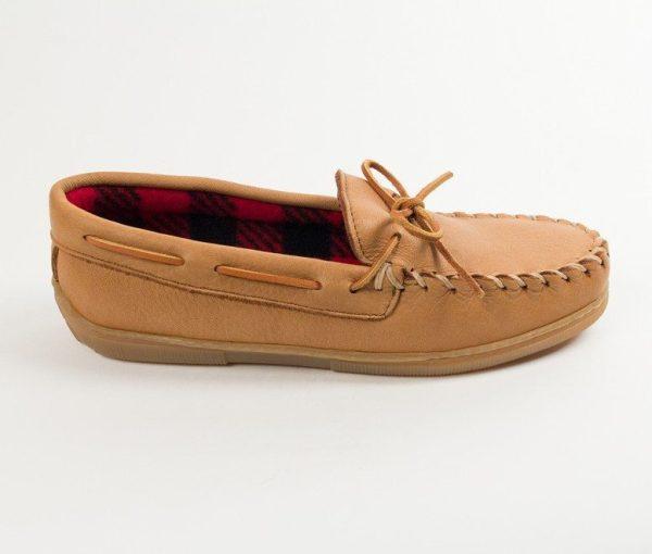 mens slippers moose fleece natural 3950
