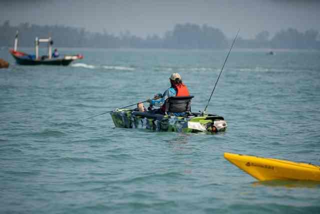 Kayak fishing for Tuna