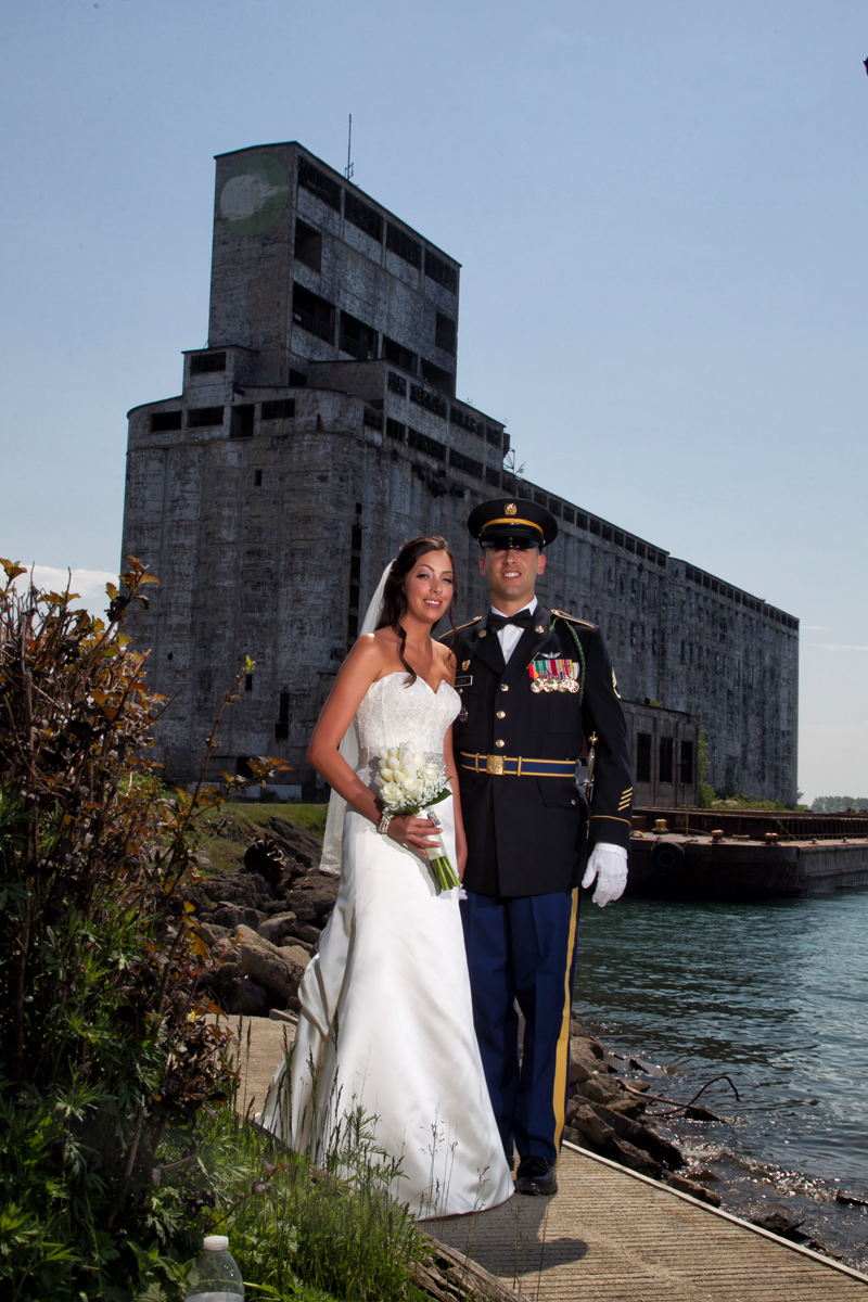 Buffalo wedding Bride and groom outer harbor
