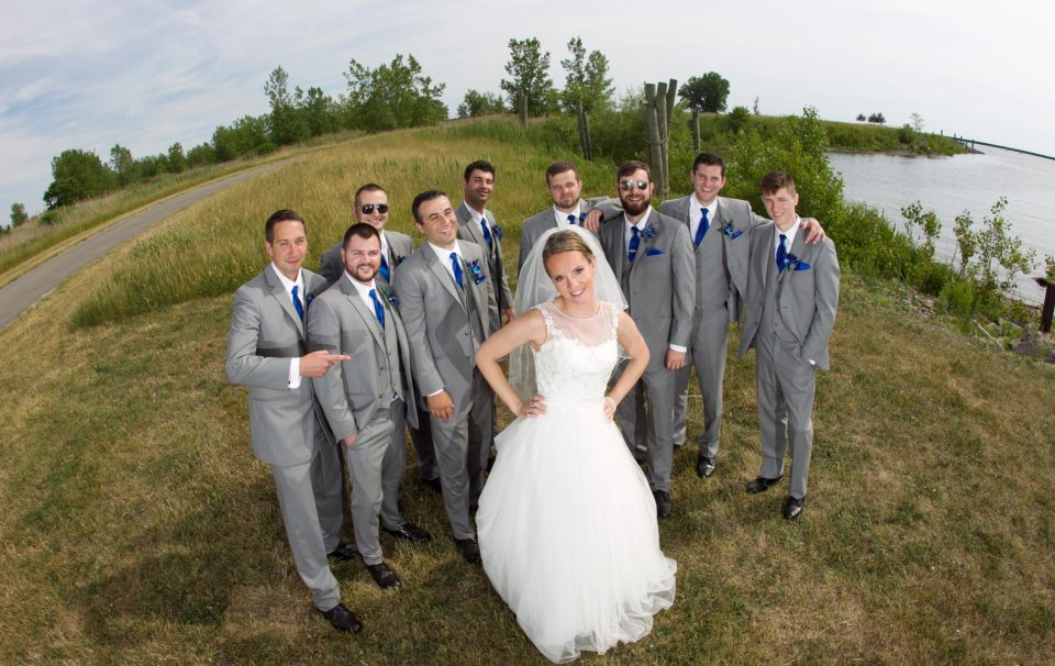 bride and groom fci photography outer harbor wedding party 5