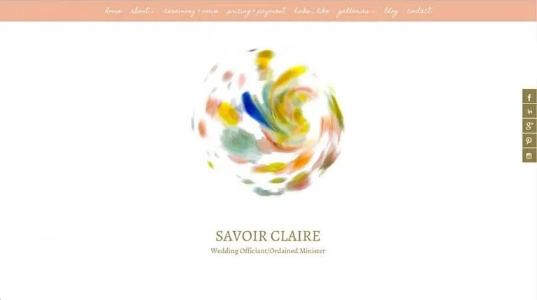 savoirclaire.com homepage
