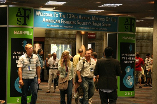 Photo of AFS members at the American Fisheries Society annual meeting