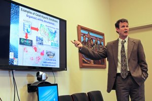 Dan Izaak, U.S. Forest Service, discusses applications for large data sets.