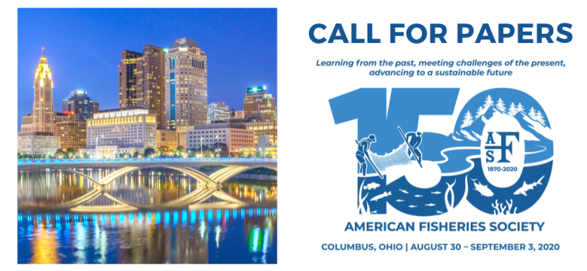"<a href=""https://afsannualmeeting.fisheries.org/"">Call for 2020 Papers</a> slide"