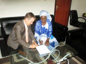 M. Biermann (Director of the FiTI) and Ms. Marième Diagne Talla, Permanent Secretary of the SRFC