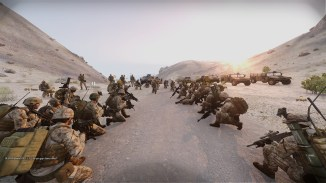 Arma operations can get large, as seen in this candid group photo