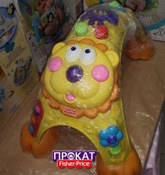 обработка игрушки Стойка Лев Fisher-Price