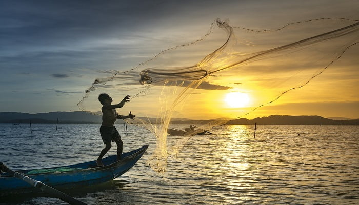 Different types of fishing nets