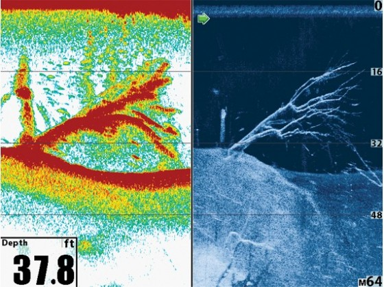 Traditional SONAR vs Down Imaging