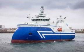 WILD WEATHER FOR ICELANDIC FISHING BOAT
