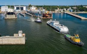 Huge Feed Barge with Major Environmental Benefits