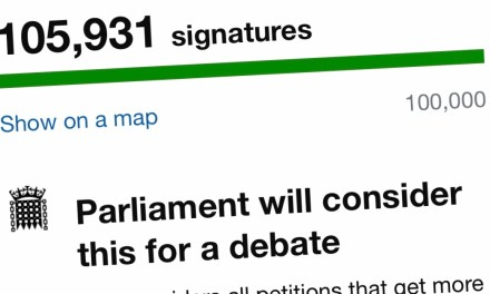 SIGNATURES exceed 100,000 in call for a hospitality minister