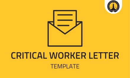 CRITICAL WORKER LETTER – TEMPLATE
