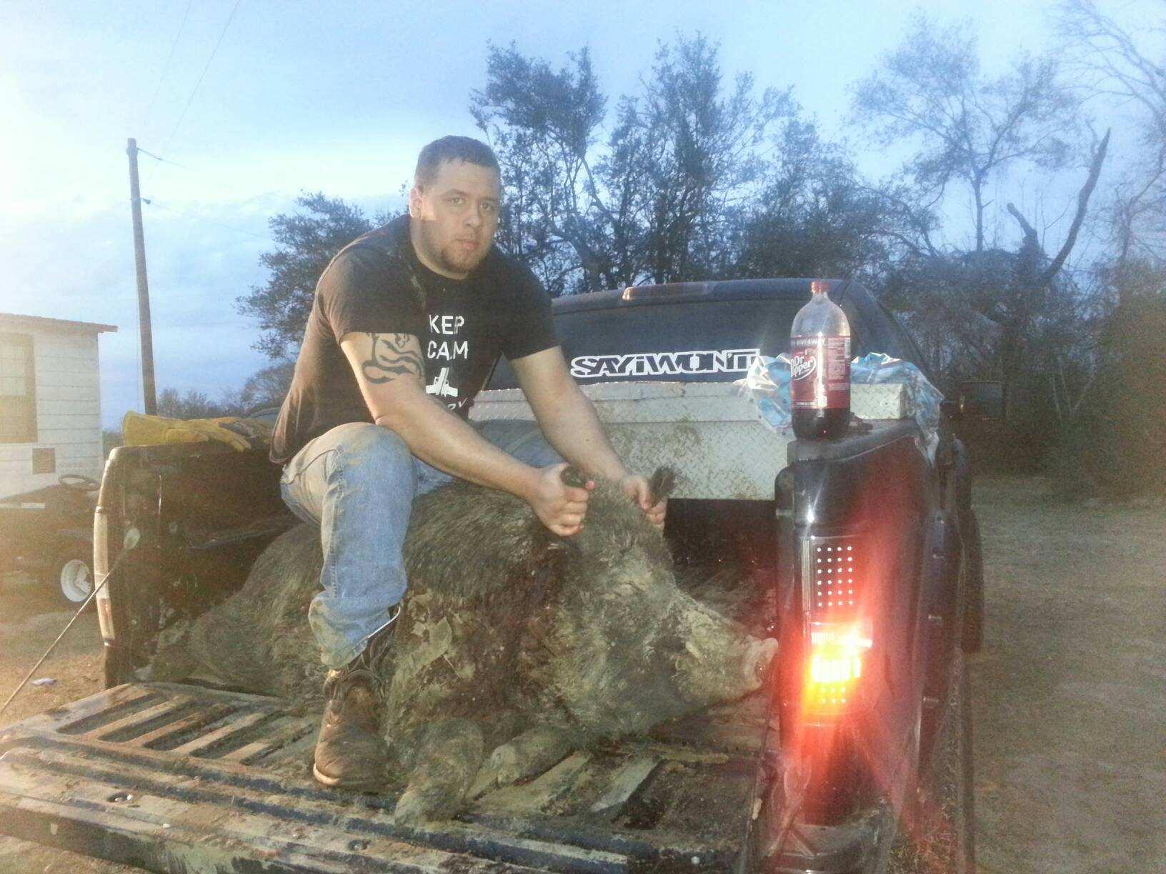 January 11, 2014 Boar 400+lbs taken by Cody LeBlanc