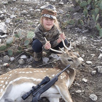 Caitlin's first axis deer!