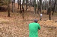 The First Eight Seconds Show a Man Shooting a Target on a Tree. What Happens Next Will Send the Video Viral.