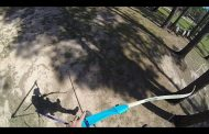 Shooting a Bow While Flying Down a Zipline! [VIDEO]