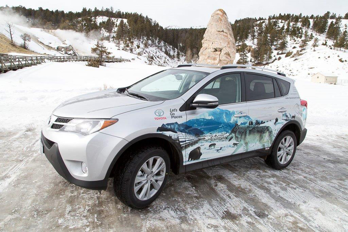 Toyota also recently donated a RAV4 and $50,000 to the Yellowstone Park Foundation.