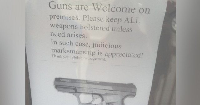 Tennessee Restaurant Sees Business Surge After Posting Pro-Carry Sign