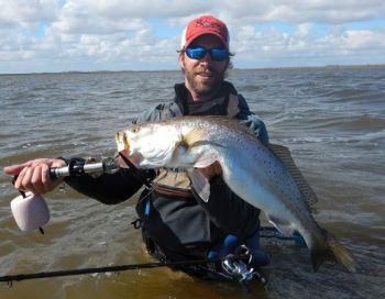 Finding big specks in february on sabine lake texas fish for Fishing spots finder
