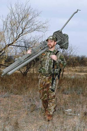 Hunters can set up a tripod in areas with few large trees and move them easily to keep up with game.