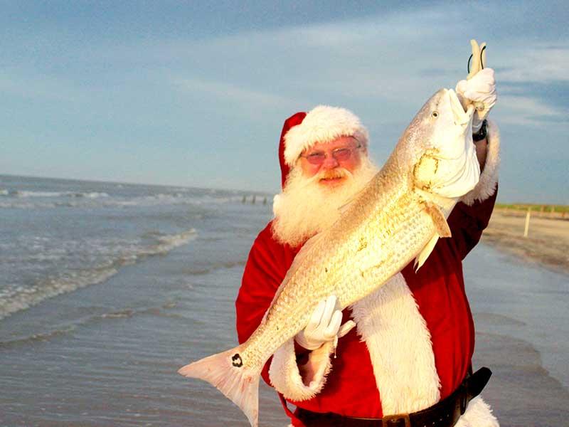 Surf fishing santa a gulf coast christmas for Surf fishing gulf shores