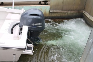 outboard engien running