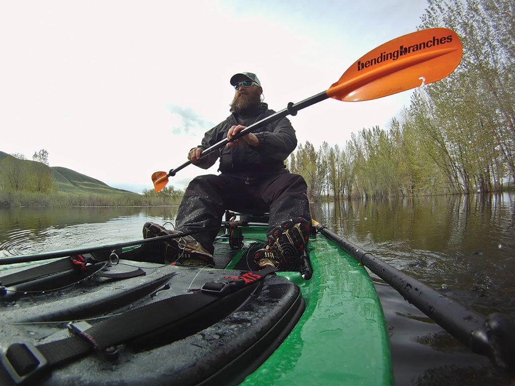 Carp in a kayak