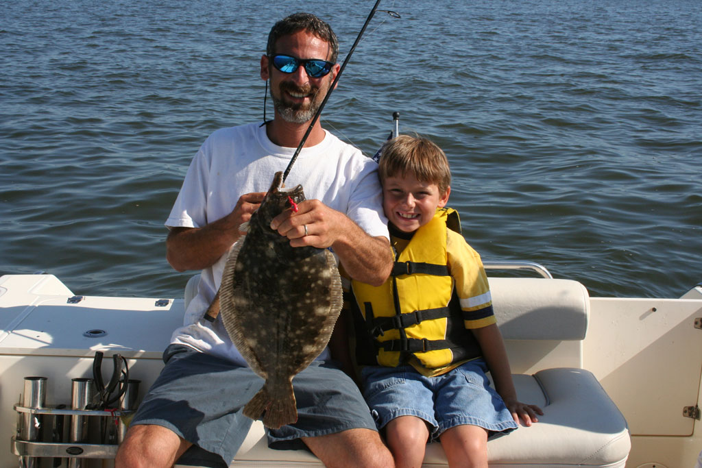 father and son flounder