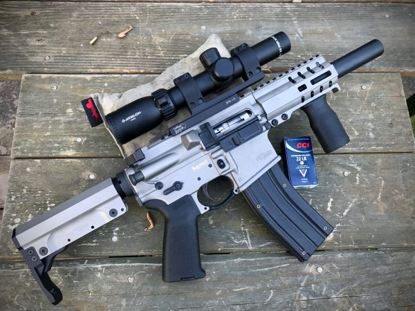 The CMMG DefCan 22 is right at home on the Banshee SBR