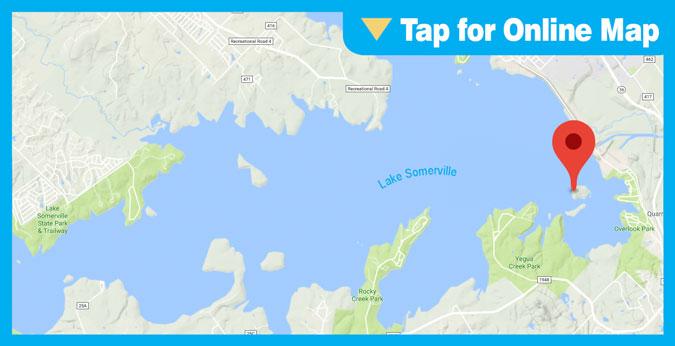 Lake Somerville HOTSPOT: Rock Island Shoreline